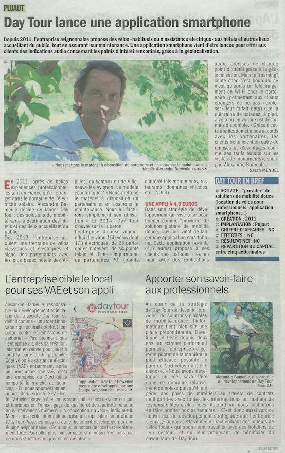 Vaucluse matin entreprise 22 Avril 2014
